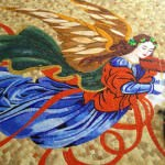 laleler, angel, glass mosaic
