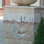 mermer saksı bahçe dekorasyonu