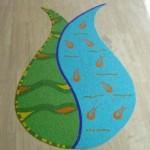 glass mosaic, tulip design, turkish design