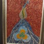 Glass mosaic peacock
