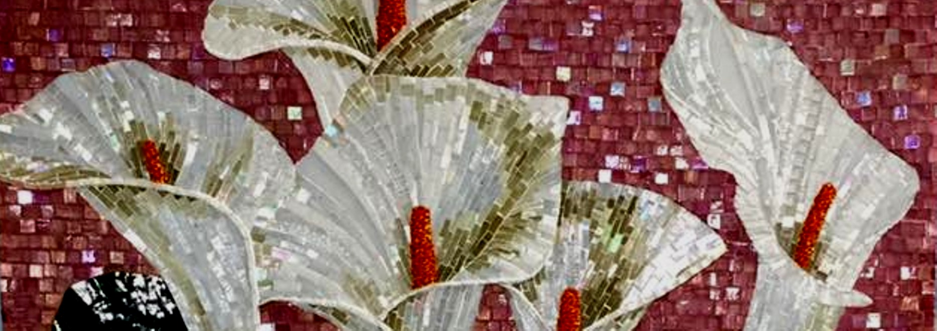 mozaik çiçekler