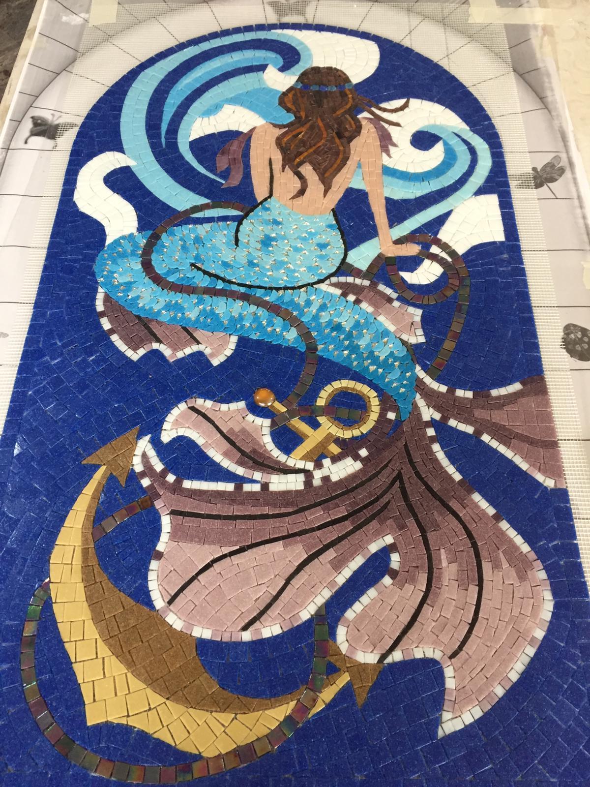 deniz kızı mozaik